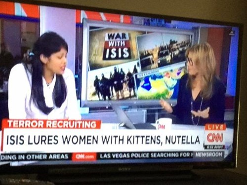 isis lures women with kittens and nutella, your move coalition