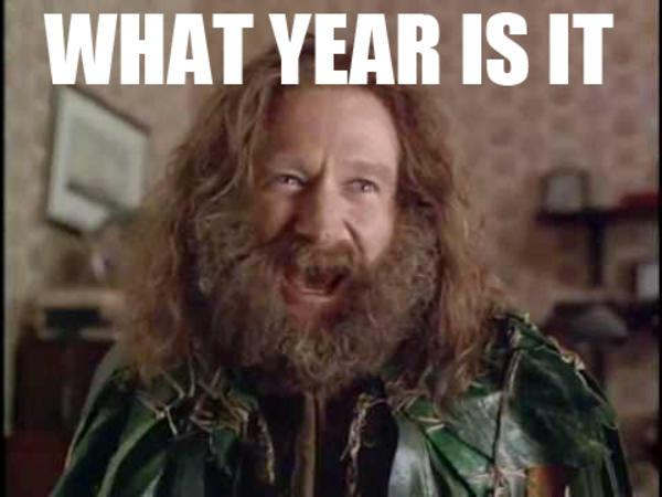 what year is it?, robin williams in jumanji