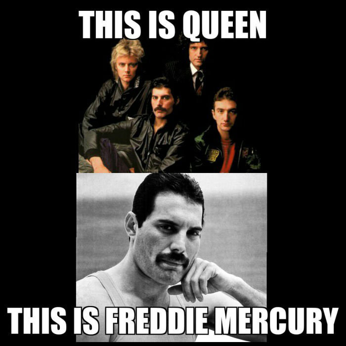 this is queen and this is freddie mercury
