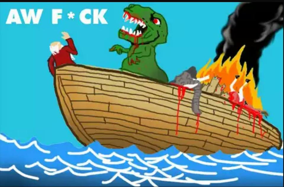 why noah didn't bring the dinosaurs, aw fuck, t-rex on noah's arc