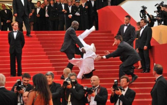 when you go to the oscars and forget that you're not a stunt double