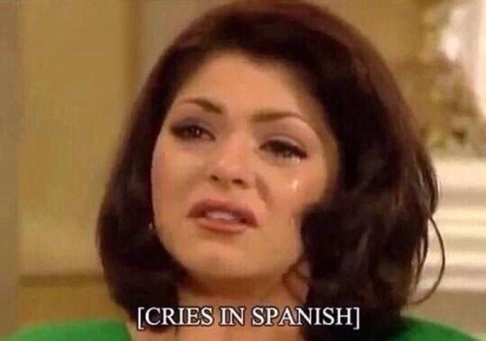 cries in spanish, subtitle fail, lol