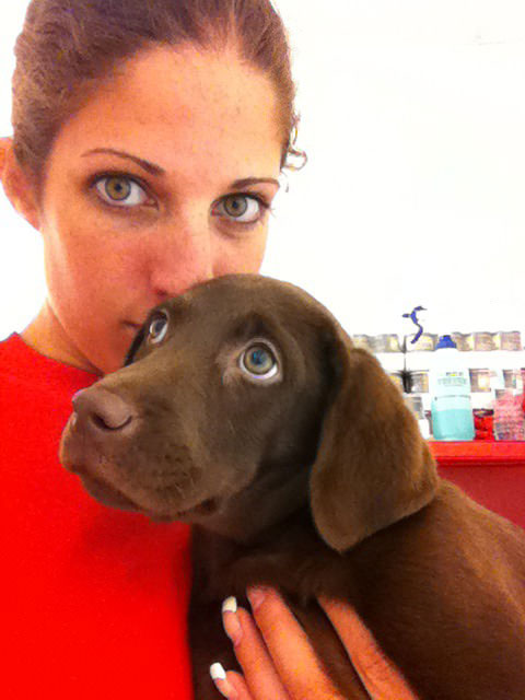 this girl and her dog have the same eyes
