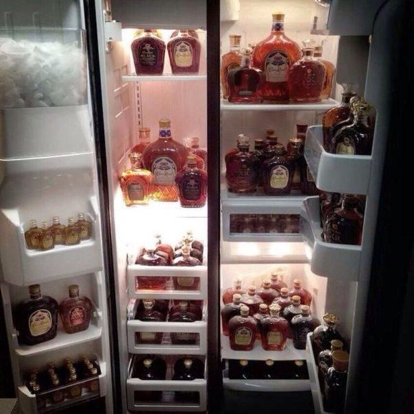 how to know if you have a drinking problem, refrigerator full of alcohol