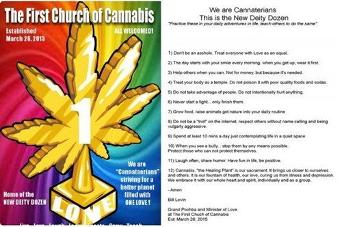 praise the bong! it's the first church of cannabis