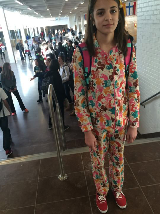 when you go to pyjama day way more excited than most people