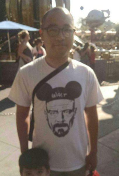 walt disney, walter white t-shirt