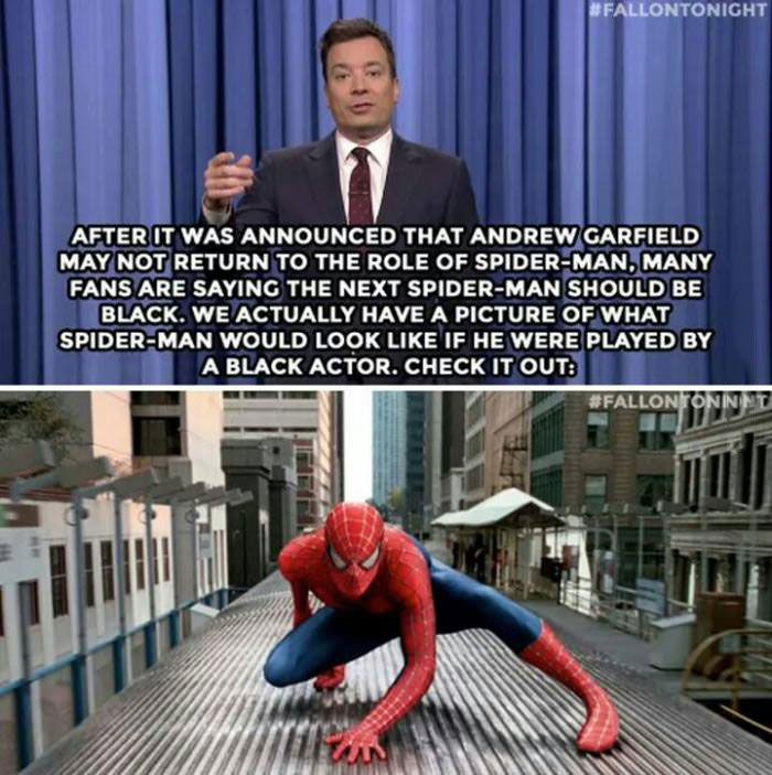 an exclusive picture of what spiderman would look like if he was played by a black actor