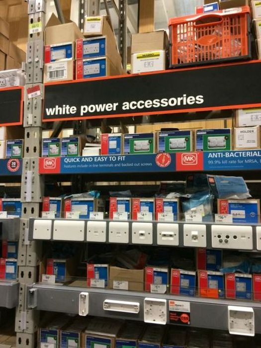 the most racist shelf at your hardware store, white power accessories