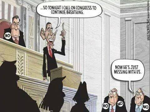 so tonight i call on congress to continue breathing, now he's just messing with us. obama