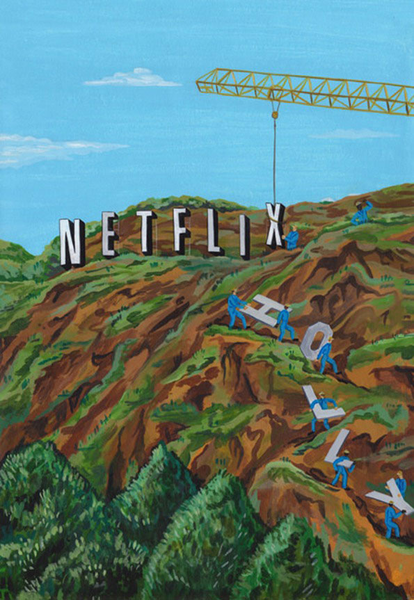 netflix replacing the hollywood sign