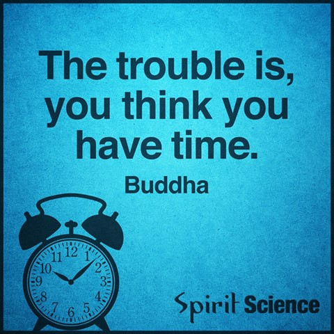 the trouble is you think you have time, buddha