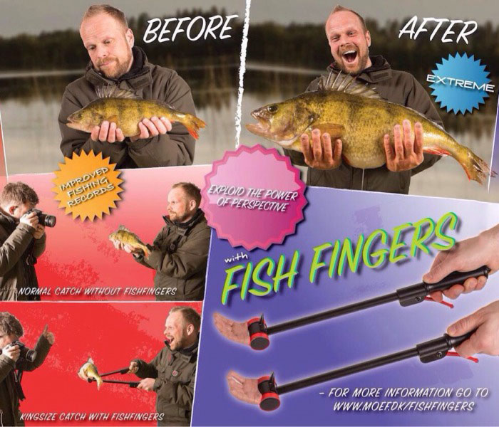 before and after fish fingers, how to make your catch look bigger
