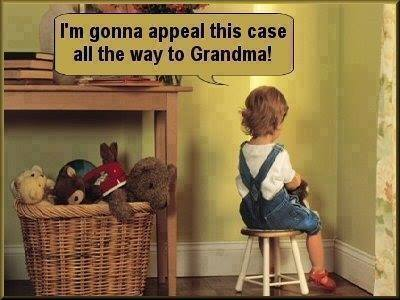 i'm gonna appeal this case all the way to grandma
