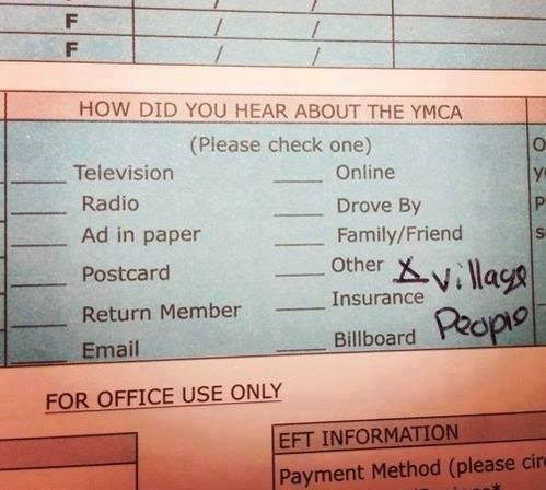 how did you hear about the ymca, the village people