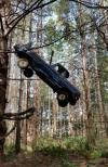 how does something like this even happen?, truck stuck in trees
