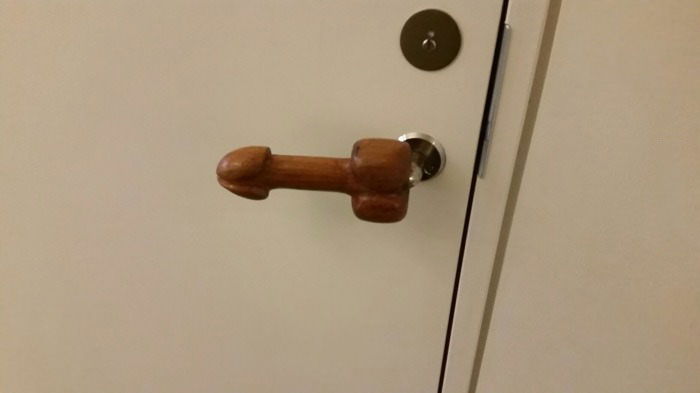 just a door handle at the penis museum