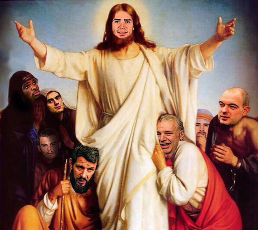 carey price and the montreal canadiens as jésus and the apostles