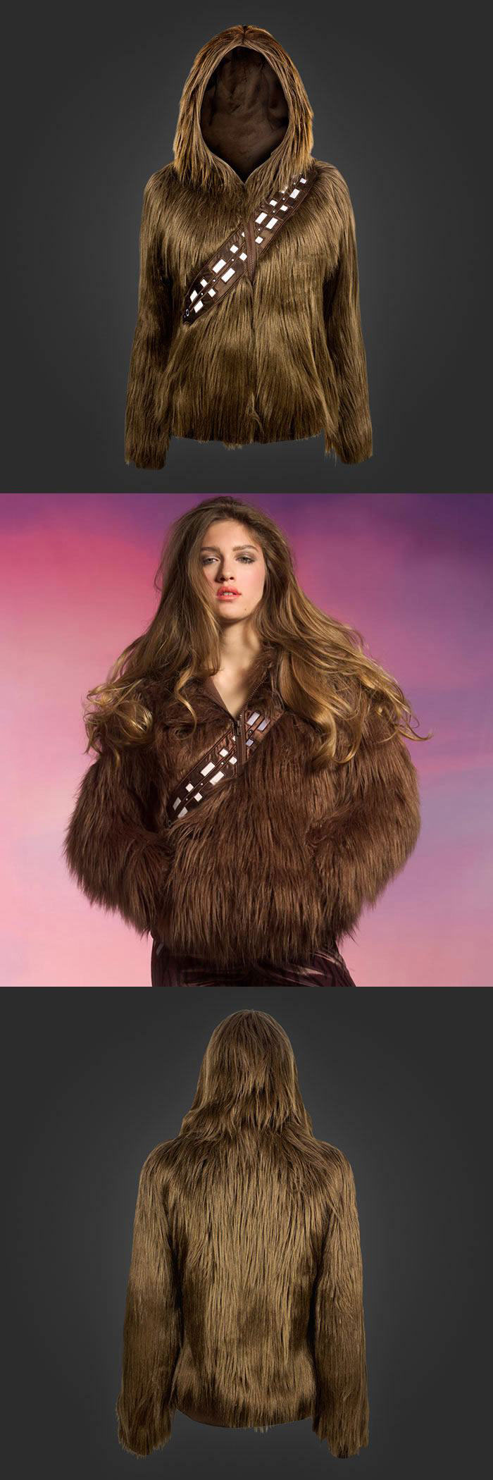 sport your finest fur in this star wars wookie jacket