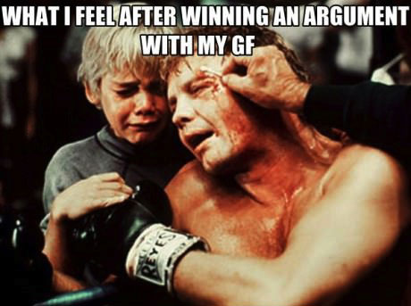 what i feel like after winning an argument with my gf, meme