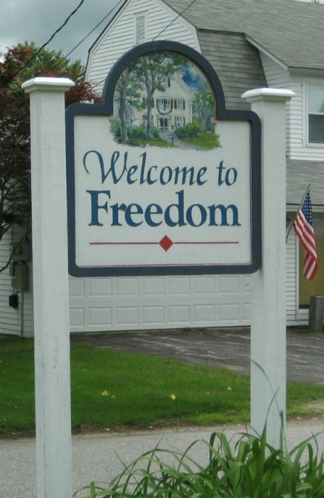 best american town name ever, welcome to freedom