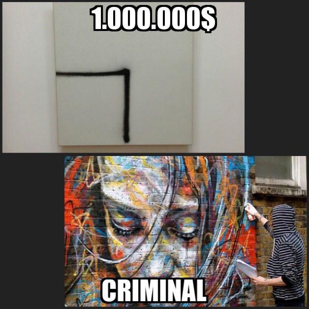 one million dollars versus criminal, art