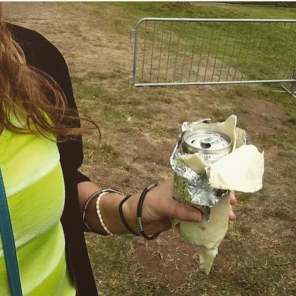 how to hide your beer when you are only allowed to bring food