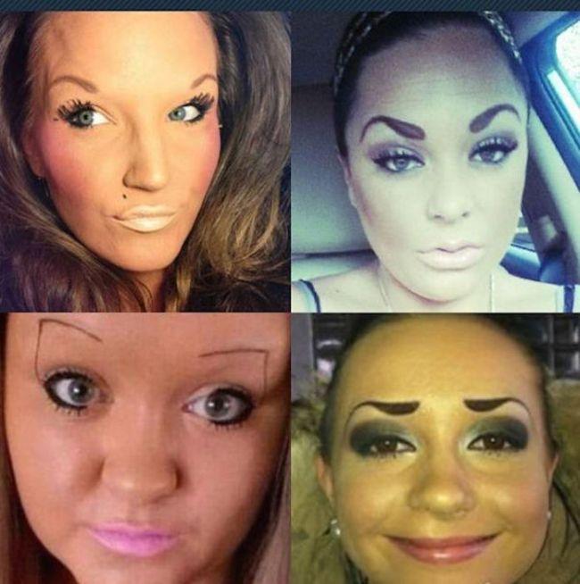 worst eyebrows ever, wtf, fail