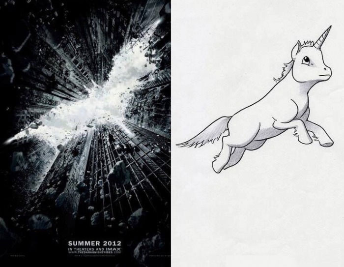 this unicorn in the batman poster cannot be unseen