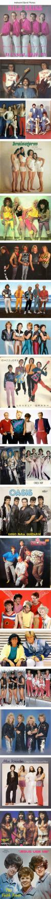 an epic collection of absolutely ridiculously awkward band photos