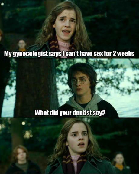 another set of dirty harry potter jokes, meme