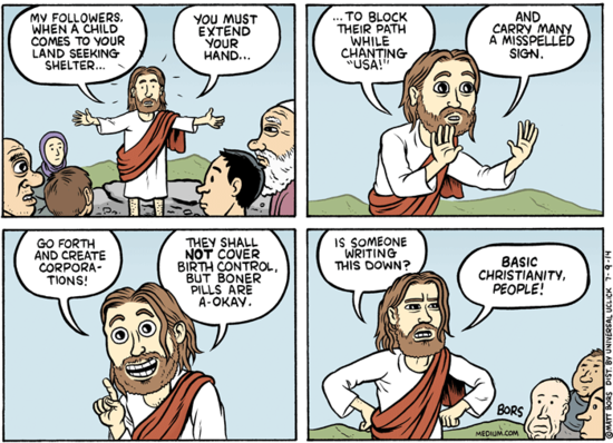 stuff jesus said, the christian right, comic