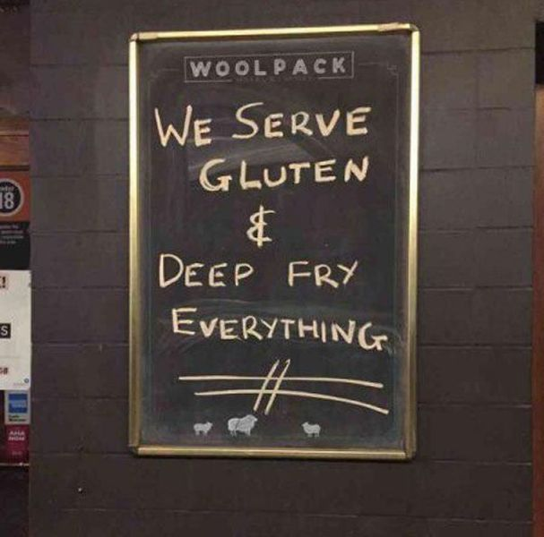 we serve gluten and deep fry everything