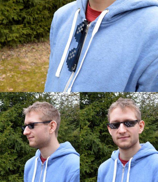 just a pair of 8bit sun glasses
