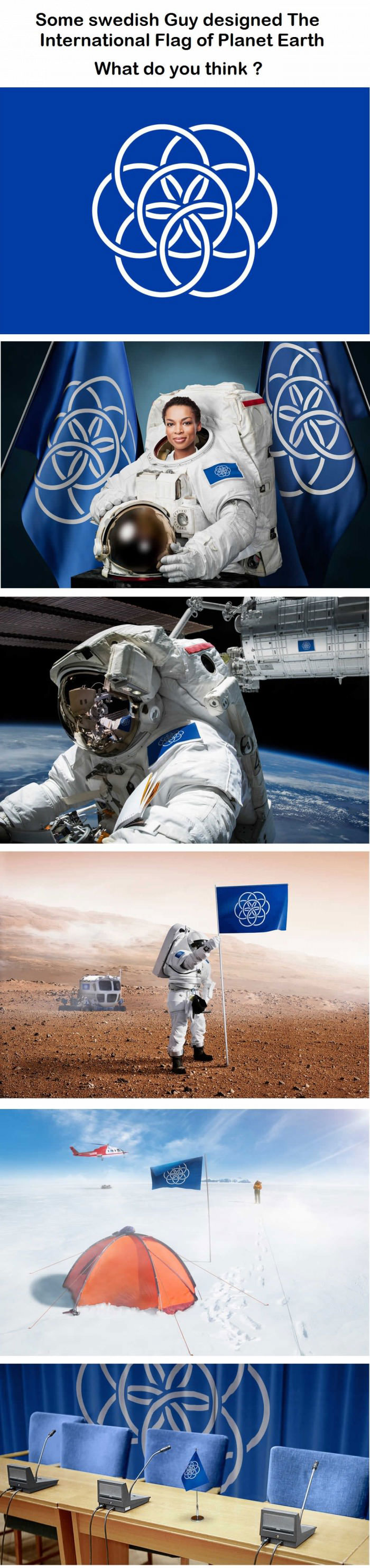 some swedish guy designed the international flag of planet earth, what do you think?