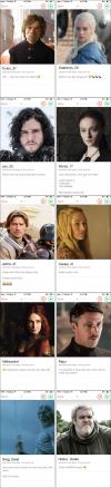 if game of thrones characters had tinder profiles, dating