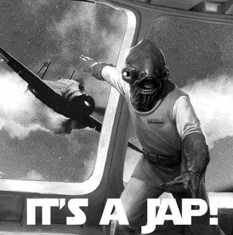 history teacher started out his class with this meme, it's a jap, it's a trap, star wars