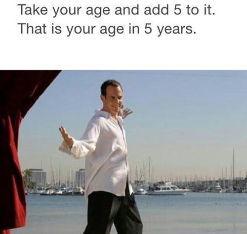 take your age and add 5 to it, that is your age in 5 years