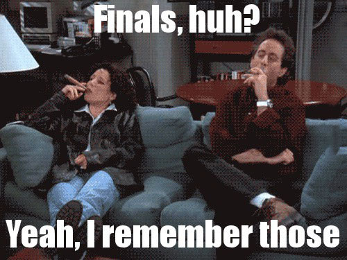 finals huh?, yeah i remember those, seinfeld smoking a cigar, meme
