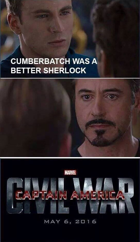 cumberbatch was a better sherlock, captain america civil war