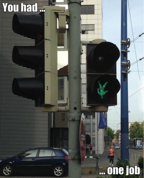 upside down street light, you had one job