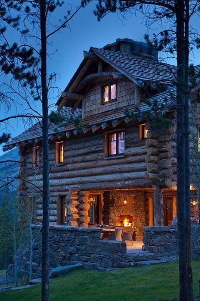 really nice log cabin