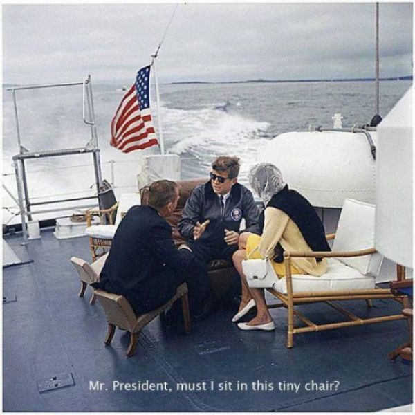 yes mr president but why must i sit in this tiny chair