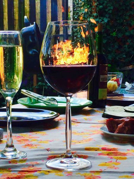 wine by the fire side