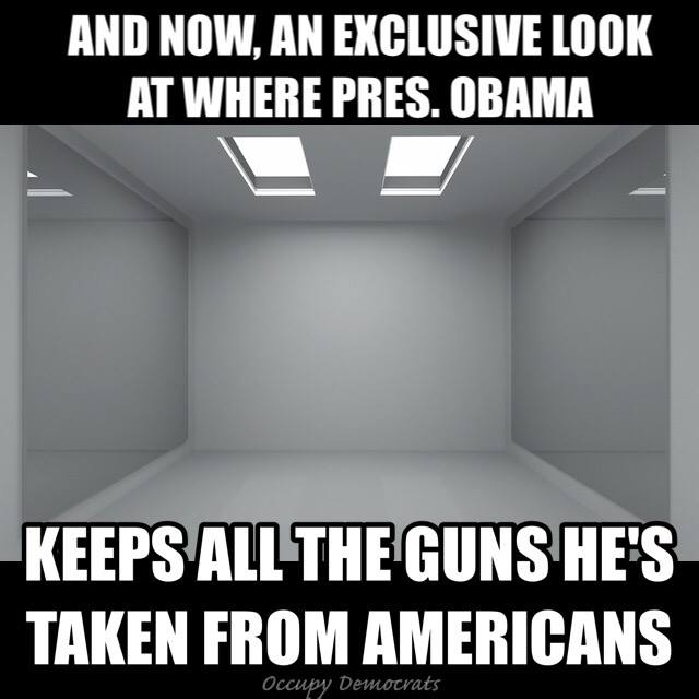 and now an exclusive look at where president obama keeps all the guns he's taken from americans