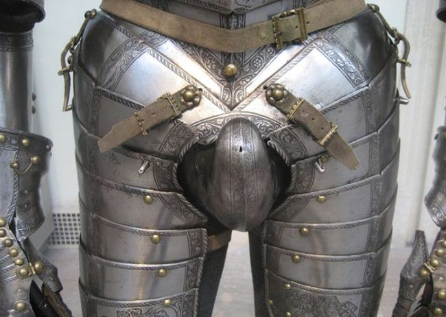 knight armour with morning wood cup