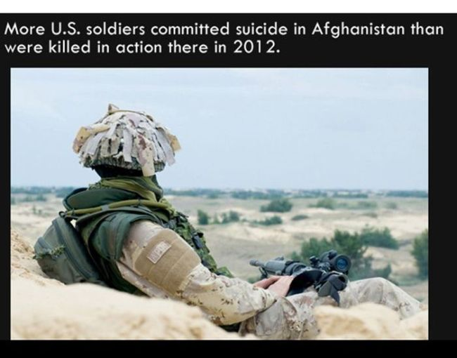 more u.s. soldiers committed suicide in afghanistan than were killed in action there in 1012, fun facts