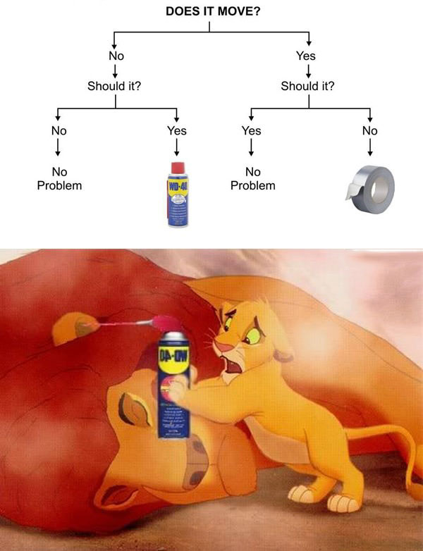 applying the engineer's decision tree to samba's problem, da feels, the lion king, sad