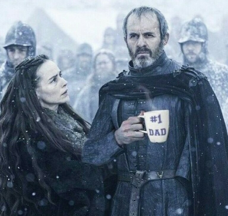 stanis baratheon holding #1 dad cup