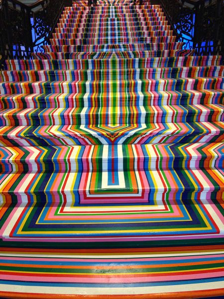 really trippy psychedelic stairs